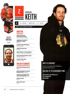 2 // DUNCAN KEITH - Blackhawks Magazine surveys 2014-15