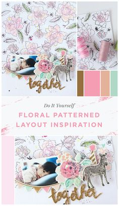 Eunyoung Lee shares her tips & techniques for creating this adorable floral patterned layout. Visit our blog for more info. www.altenew.com
