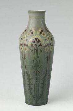 Ligue Denis, Vase decorated with Dandelions, 1907
