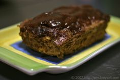 Horseradish Meatloaf - I have never liked meatloaf but love this recipe.