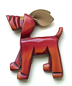 Vintage bakelite dog pin  jewelry