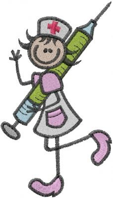Looking for a cute nurse embroidery design? Check this one out...only $2.50! Great for any project!