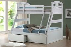 double bed on bottom