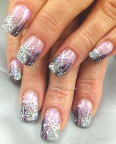 Japanese Winter Nail Art | ... Nageldesign on Pinterest | Gel Nails, Christmas Gel Nails and French