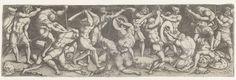Monogrammist AC (16e eeuw)   Gevecht tussen Romeinse soldaten, Monogrammist AC (16e eeuw), 1520 - 1562   Zestien vechtende Romeinse soldaten.