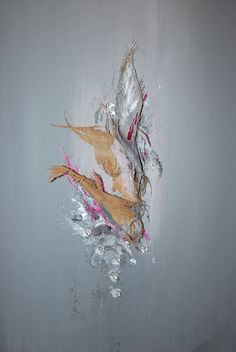Opium - Toile acrylique - 54x73 cm Intégration de matière végétale (écorce de palmier de Rép. Dominicaine)