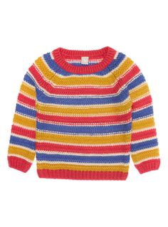 Girls Girls Multicoloured Striped Jumper (9 months-5 years) | Tu clothing