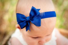 Single Layer Pinwheel Boutique Baby Headband Bow, baby headband, infant headband, baby headbands, baby bow, baby bow headband. $6.50, via Etsy.