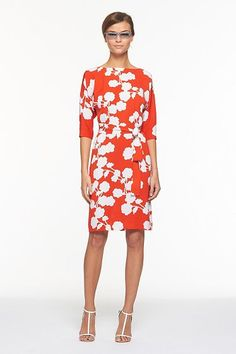Maja Two Dress in Halo Buds Large Red - I love this dress!
