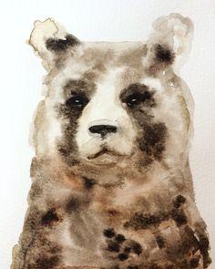 Brown Bear Watercolour - Ingjerd Tufto  Instagram: @intu