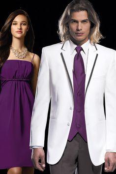 Street Tuxedo - Weddings - Tuxedos - Formalwear - Jean Yves White Black Connery