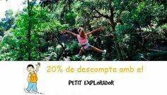 La Selva de la Aventura. Selvaventur en Girona. Tirolinas para niños y niñas. Parque de tirolinas para familias.
