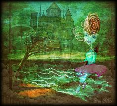 "Digital Art by *Silkku* ""The maiden of the castle"" silkkus.blogspot.fi"