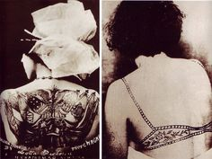 tattooed ladies sideshow | Below, Deafy and Stelly Grossman, 1920s.