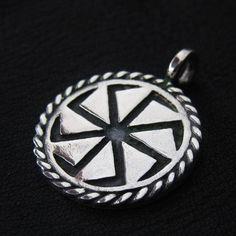 Silver Kolovrat pendant. Reenactment. Slavic. Pagan. Medieval. Amulet.