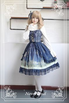 Neverland Lolita ~Arabian Nights~ Lolita JSK with Surface Layer Skirt - My Lolita Dress