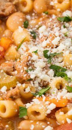 # pasta fagioli This Pasta e Fagioli Is The Perfect Weeknight Winter Dinner Pasta Fagioli Recipe, Pasta Salad Recipes, Soup Recipes, Cooking Recipes, Recipe Pasta, Recipies, Pasta Carbonara, Italian Dishes, Italian Recipes