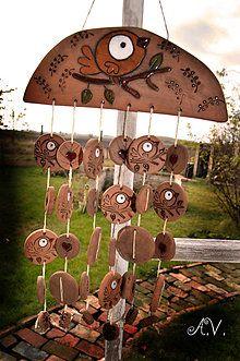 Dekorácie - Keramická zvonkohra... - 8334150_ Ceramic Products, Wind Chimes, Projects To Try, Outdoor Decor, Handmade, Inspiration, Home Decor, Rain, Pottery