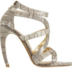 44220fea90cb Walter Steiger Snakeskin Strappy Sandal Expensive Shoes