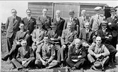 Group of men of the Royal Observer Corps, Chirnside, Berwickshire, 1939 - 1945