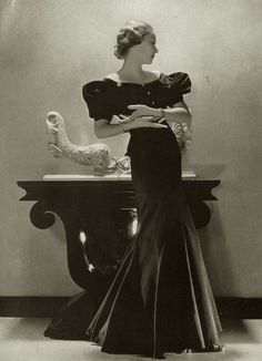 Princess Natalia (Natasha) Paley in Lucien Lelong gown. 1930s.