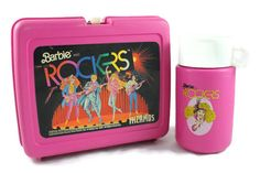 A personal favorite from my Etsy shop https://www.etsy.com/listing/470768512/1987-barbie-rockers-pink-lunch-box-with