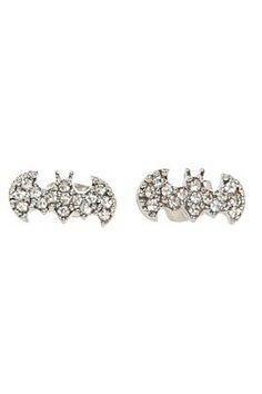 DC Comics Bling Batman Logo Stud Earrings - 165622