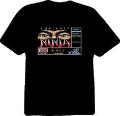 #Commodore64 The Last Ninja RETRO Video Black T Shirt