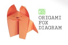 Learn how to make a super easy traditional origami fox with this easy to follow diagram! This origami fox is great for kids to make.