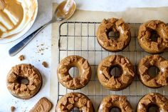 Vegan Coffee and Biscoff Baked Doughnuts