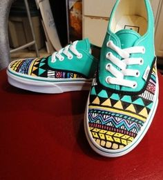 Aztec Vans Shoes... I love Vans a lot, but I have never seen these before!