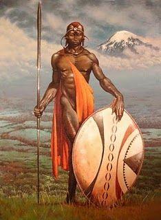 Maasai Warrior by Frank Frazetta