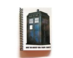 Tardis  Doctor Who  Notebook Spiral Bound 4 x by stationeryCiaffi, $17.00