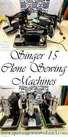 Learn the difference between a Singer 15 sewing machine and their clones. Both are great vintage sewing machines