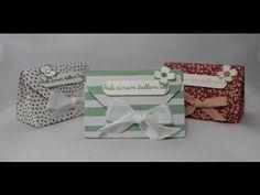 Stampin´ Up! Goodie Verpackung mit dem Envelope Punch Board , Anleitung ( Inch und cm ) - YouTube