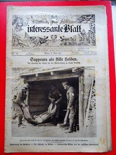 Militaria k.u.k. Zeitschrift Magazine 1917 Sappeure Mienen Stollen Gebirge Militaria, Stollen, Austro Hungarian, Austria, Army, Magazine, History, Mountain Range, Magazines