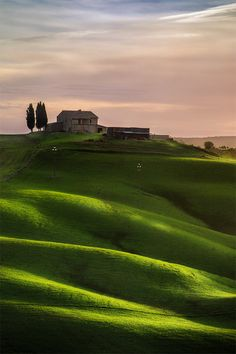 Farm on the hill. Tuscan, Italy.
