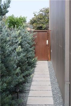 Nice and clean for rainy winter weather!  Straight Path  Walkway and Path  Z Freedman Landscape Design  Venice, CA