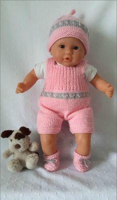 Baby Boy Knitting Patterns, Dress Sewing Patterns, Doll Clothes Patterns, Baby Knitting, Baby Doll Clothes, Baby Dolls, Knit Baby Sweaters, Baby Born, Baby Cardigan