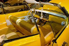 yellow houndstooth white and black Customize Lowrider Cars convertible