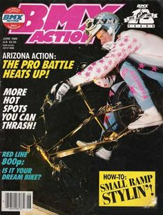 BMX Action magazine/June '86 issue Woody Itson and his gold plated hutch Trickstar bike!