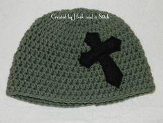 Crochet Cross Beanie
