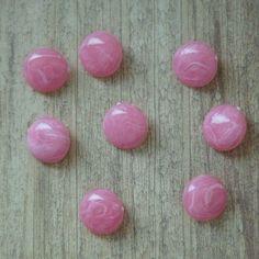 Bubblegum Swirl Round Vintage Lucite Buttons - 18mm
