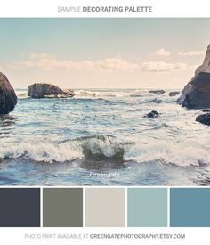 You can enhance the natural beauty of your home with beach house decorating ideas. Coastal Decor like beach art and furniture. Coastal Colors, Coastal Art, Beachy Colors, Ocean Colors, Colours, Paint Colors For Home, House Colors, Beach Paint Colors, Pacific City