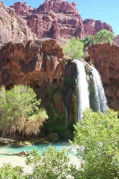 Grand Canyon, AZ. Waterfall in the bottom