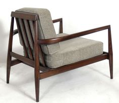 Edmund J. Spence; Walnut 'Urban-Aire' Lounge Chair, 1950s.
