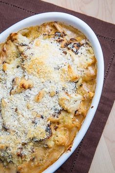 Roasted Cauliflower and Aged White Cheddar Gratin - 16g carb; 293mg sodium