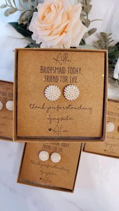 Bridesmaid Gift Boxes, Bridesmaid Proposal Gifts, Wedding Gifts For Bridesmaids, Wedding Favors Cheap, Gifts For Wedding Party, Party Gifts, Funny Wedding Favors, Our Wedding, Wedding Ideas
