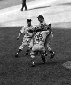 Dodgers-Yankees Oct. 4, 1955, Yankee Stadium Johnny Podres became a Brooklyn legend when he pitched the Dodgers to their first World Series title. Podres went 9-10 in the regular season before beating the crosstown Yankees in Games 3 and 7, the latter a 2-0 shutout at Yankee Stadium.