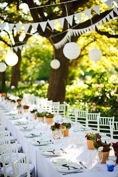 Outdoor garden wedding venues in cape town ♥ ♥ ♥ like us on fb: www. flowers fourth of july July Wedding, Autumn Wedding, Spring Wedding, Dream Wedding, Garden Party Wedding, Wedding Table, Garden Weddings, Banquet, Storybook Wedding